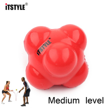 ITSTYLE Silicone Hexagonal Ball Solid Fitness Agility Coordination Reflex Exercise Workout equipment Training Reaction Ball(China)