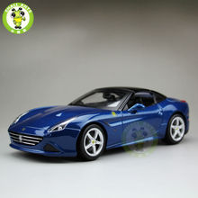 1/18 California T Diecast Metal Car Model Close Top Bburago BBU16003 Metal Blue