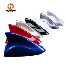 Newly POSSBAY Car Truck Roof Shark Fin Antenna Radio Signal Aerial Universal Car Exterior Accessories(China)