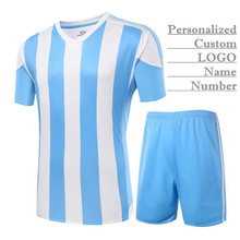100set!Personalized Custom LOGO&Name&Number Pro Man&Boy Soccer Jersey Sets,Blank Football Clothes (Shirt+Shorts),Training&Match
