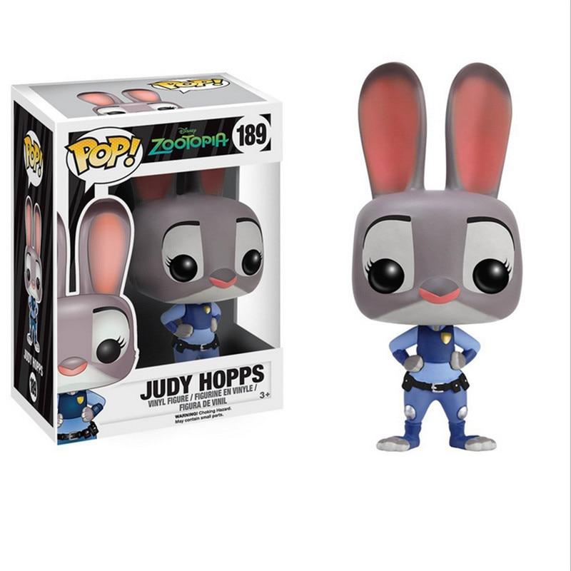 Funko Pop Zootopia Action Figure Toy, 10cm PVC Cartonn Zootopia Fox Nick Rabbit Judy Figure Toys Model, Anime Brinquedos<br><br>Aliexpress