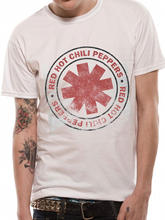 Red Hot Chili Peppers tee Vintage Official Licensed Beige t shirt NEW RHCP Rock Tops Cool Tshirt Homme Euro Size(China)