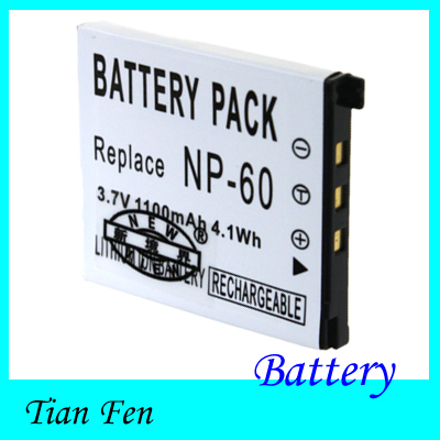 1pcs  Battery NP 60 CNP-60 NP-60 Rechargeable Li-ion Camera Battery For Casio Exilim Zoom EX- 29 EX-Z80<br><br>Aliexpress