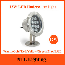 New 12W LED Underwater light IP68 waterproof lamp lights AC/DC 12V 24V for Fountain Swimming Pool Pond Fish Tank Aquarium Park