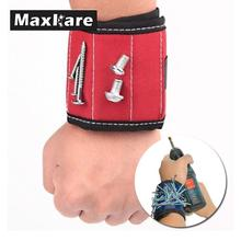 13.8'' Wrist Support Band Tool Belt Bracelet Screw Kit Magnetic Wristband trainers fitness strong Chuck wrist massager(China)
