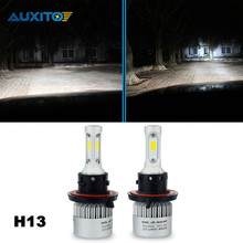 AUXITO H13 Car LED Headlight 80W 16000LM Automobiles Headlamp Bulb Kit For Ford Focus 2 Ranger Mustang Explorer Expedition