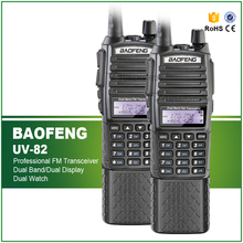 High Quality 2PCS/LOT Original 5W 136-174/400-520MHZ Long Battery 3800 Separate PTT Baofeng UV-82 Walkie Talkie