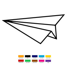 Paper Airplane Car Sticker For Truck Window Bumper Auto SUV Door Laptop Kayak Vinyl Decal(China)