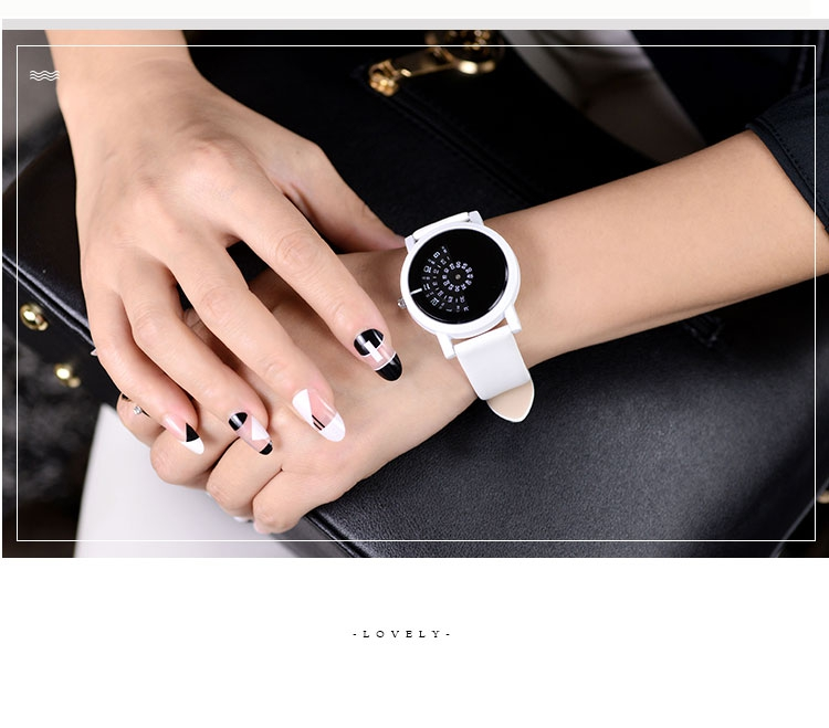 17 BGG creative design wristwatch camera concept brief simple special digital discs hands fashion quartz watches for men women 17