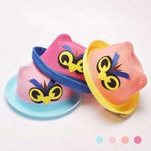 Angry Owl eyes Animal Bird Lovely cute Hat cartoon children sun Hats happy face best birthday gift for baby colorful lovly Caps(China)