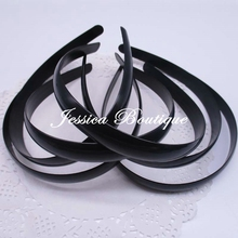 Free Shipping 20pcs1.5cm Black Plastic Hair Band WITHOUT Teeth Headbands 15mm Wide Jewelry Findings Hair Accessories DIY Tools