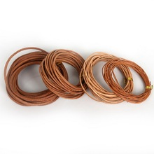 Hot Sale 1mm 1.5mm 2mm 3mm Round Genuine Real Leather Jewelry Rope string Nature Cord For Bracelet Necklace DIY Jewelry making(China)