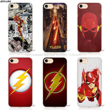 BiNFUL Hot sale Flash Man Superhero Hard Transparent Phone Case Cover Coque for Apple iPhone 4 4s 5 5s SE 5C 6 6s 7 Plus