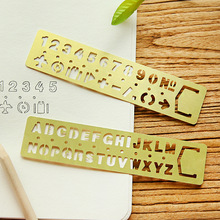 1X Hollow Metal Letter Number Drawing Picture Graffiti Template Ruler Educational Supply Drafting Rulers Straightedge Bookmark