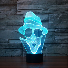 3D Glasses 7 Color Changing Office Decor Table Lamp Visual Illusion LED Lighting Lamp Kids Toy Christmas Gifts Night Light-191