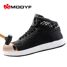 Buy Modyf Men's steel toe cap work safety shoes casual breathable outdoor puncture proof protection footwear for $43.77 in AliExpress store