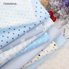Twill 8 pcs Cartoon Cotton Fabric for DIY Patchwork Sewing Kids Bedding Bags Dot Tilda Doll  Cloth Textiles Fabric 40*50cm