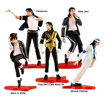 "5 Style Classic POSE Michael Jackson Limited Edition Model PVC Model Action Figure toy  4"" (11cm)"