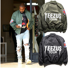 2017 Ma1  air force flight  Brand Kanye Jacket Air Force Flight Bomber Jacket Men Clothing Kanye West Jacket Hip-hop coat S-XXL