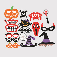 hot sale halloween decoration pieces photo booth props mascara mask for kids men