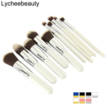 10 pcs Professional Makeup Brush Set Maquiagem Beauty Foundation Powder Eyeshadow Cosmetics Make Up Brushes Kabuki Brush Tool