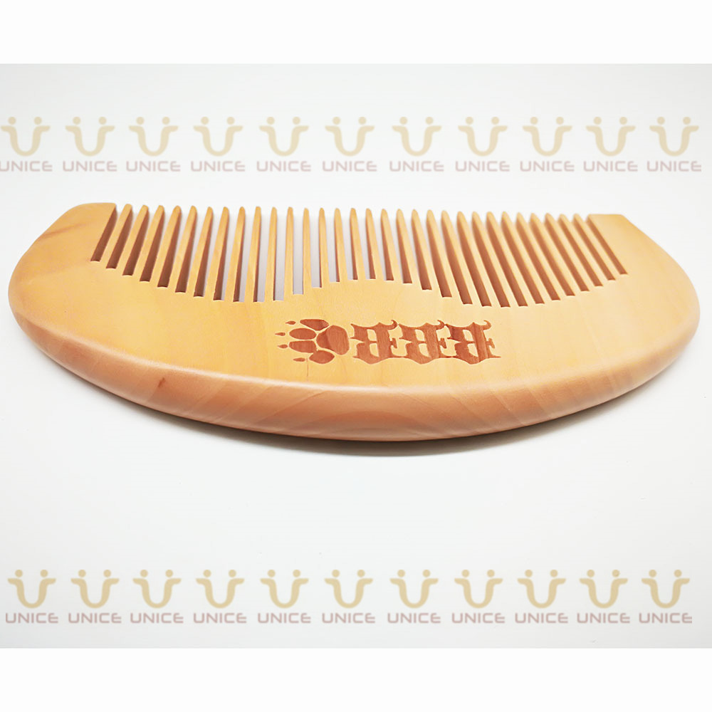 100pcs/lot Your LOGO Customized Private Label Combs Hair Beard Wood Comb for Men & Women for Barber Shop Retail Case 47