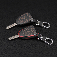 Genuine Leather Keychain Key Chain Set for Jeep Chrysler Wrangler Guide / Dodge Cool Granville / Chrysler 300C Key Protection