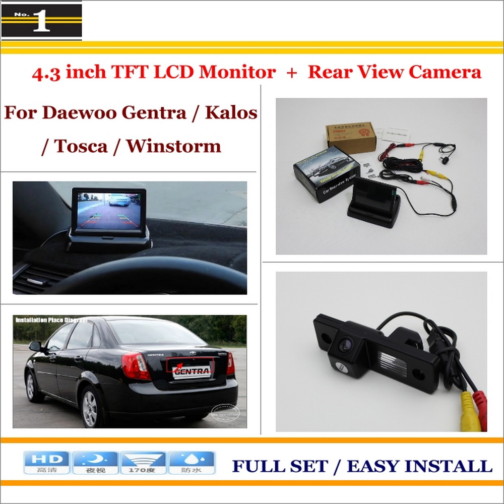 Car Rearview Camera + 4.3 LCD Screen Monitor = 2 in 1 Parking Assistance System - For Daewoo Gentra / Kalos / Tosca / Winstorm<br><br>Aliexpress