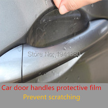 4 pcs/lot universal invisible Car door handle stickers car sticker protection protector film scratches resistant cover