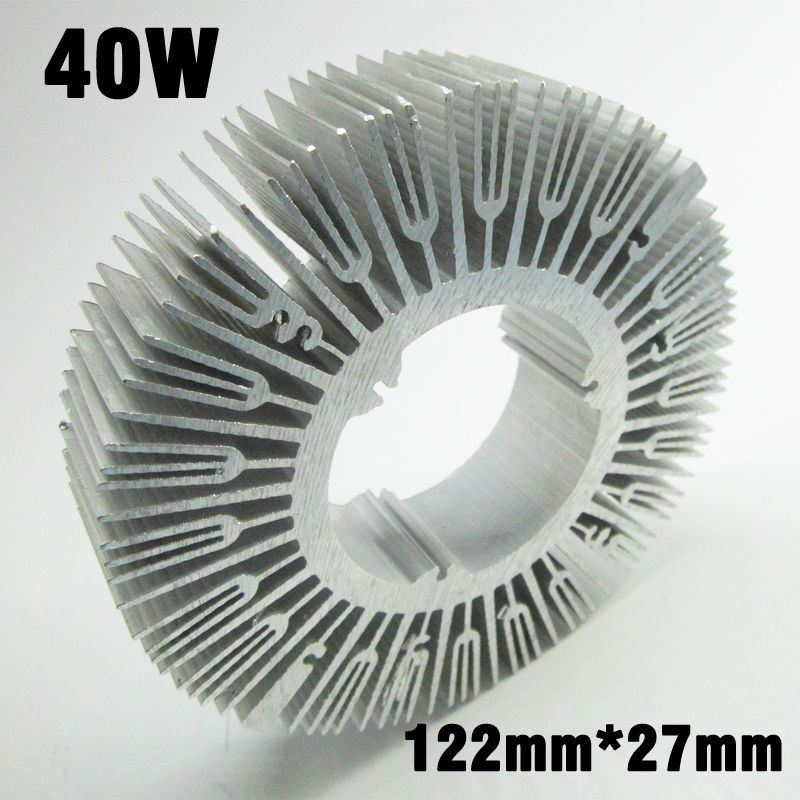 2pcs 40W 50W LED Heat Sink, D122mm H27mm Aluminum Profile Radiator Cooler For 30W 40W 50W LED PCB Radiator DIY Accessories<br><br>Aliexpress