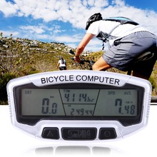 EA14 Bike Cycling LCD Computer Odometer Bicycle Speedometer Velometer With Backlight