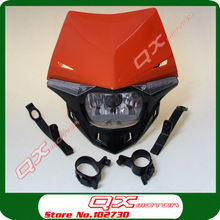 H4 12V 35W Orange Motorcycle Head Light Universal Pit Dirt Bike Motorcycle Front light Lights Front Lamp Fit EXC MXC LC4 520