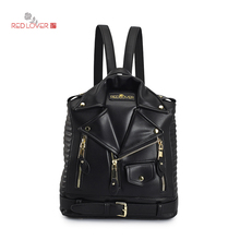 2017 New Backpack Women Bag PU Leather Backpack Fashion Personality Designed School Backpack Travel Bags B0B2