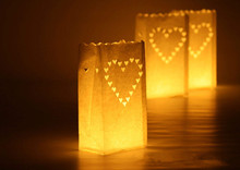 10 pcs/lot Outdoor Candle Lantern Stars Tea light Holder Paper Lantern Candle Bag for Festive Party Supplies Wedding Decoration(China)