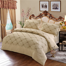 High-level multi-level embroidery 100% cotton bedding set 2/3/4pcs
