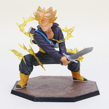 "Dragon Ball Z Super Saiyan Trunks Battle Version Boxed PVC Action Figure Model Collection Toy 6"" 14cm DBZ Figures(China)"