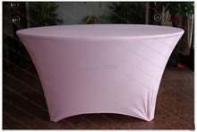 Light Pink Spandex Table Cover/Lycra Tablecloth/Chair Sash/Chair Covers /Napkin For Wedding Party Hotel Banquet Home Decorations(China)