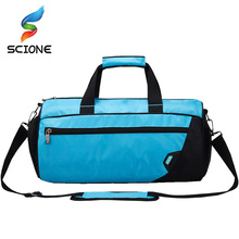 Unisex Waterproof Nylon Gym Bags Women Dry And Wet Sepration Fitness Training Shoulder Handbag With Shoes Pouch Duffles Bags(China)