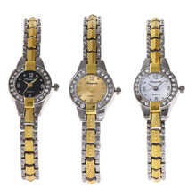 Fashionable people with diamond alloy watch Petite ladies quartz bracelet Watch intellectual and elegant high-end quality(China)