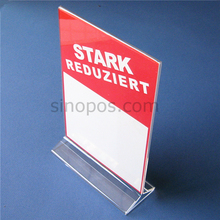 Acrylic Sign Holder, plastic poster display racks, acrylic table advertising stand information paper card tag menu holder POP