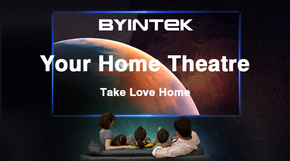 BYINTEK SKY K2 150inch LED Mini Micro Portable Video HD Projector with Speaker HDMI USB For Game Movie 1080P Cinema Home Theater (1)