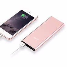 Buy HOCOB 10000mAh Metal Cookie Power Bank 2.1A USB LED Metal Portable Battery Safe Mobile Backup Charger Mobile Phones for $18.21 in AliExpress store