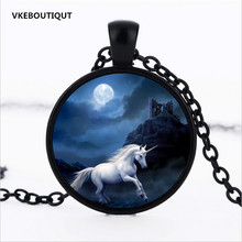 3 Color UNICORN PENDANT CUSTOMIZED Unicorn Necklace Blue White Personalized Necklace Fantasy Jewelry Horse Lover Gift