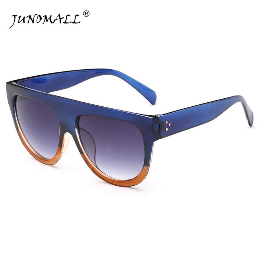 Woman Flat Top Mirror Sun Glasses Cat Eye Sunglasses French brand oculos De Sol 6618<br><br>Aliexpress