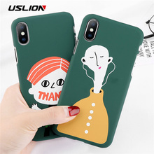 Buy USLION Cartoon Phone Case iPhone X 8 Plus Matte PC Case iPhone 7 6 6S Plus Funny Letter Smile Little Boy Hard Back Cover for $1.35 in AliExpress store