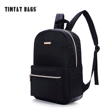 TINYAT Black Backpack For Women Waterproof Nylon Small Backbag Rucksack Girls School Book Shoulder Bag Mochila Y101(China)