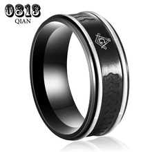 USA Hot Selling Tungsten Carbide Freemason Logo Masonic Master Men's Wedding Ring MB