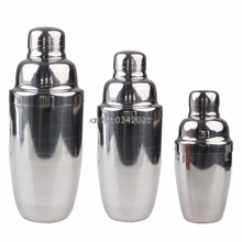250/550/750ml Stainless Steel Wine Bar Tool Cocktail Shaker Mixer Party