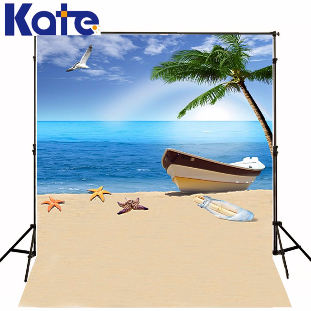 200Cm*150Cm Backgrounds Summer Vacation By The Sea Vessels Photography Backdrops Photo Lk 1397<br>