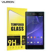 VIUMON 9H Screen Protector for Sony Xperia C3 Glass Tempered Glass Film for Sony Xperia C3 D2533 C3 Dual with Retail Package